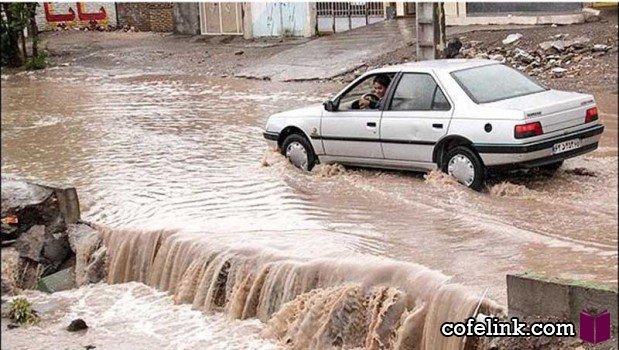 سیل و طوفان در تهران