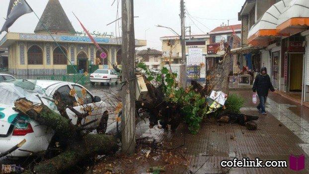 طوفان در مازندران