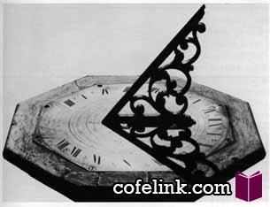 نمونه ای از ساعت آفتابی - کافه لینک